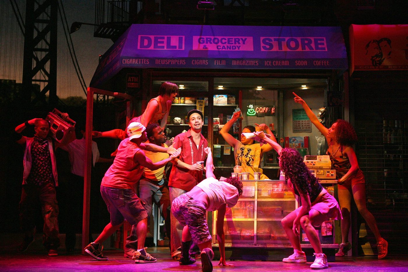 Lin-Manuel Miranda and cast of In the Heights