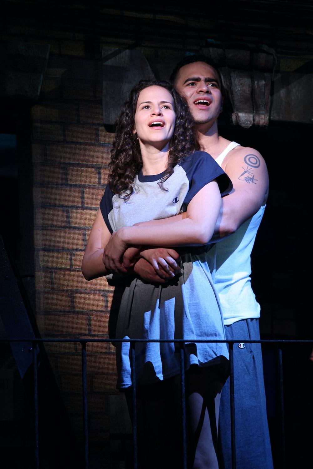 Mandy Gonzalez and Christopher Jackson