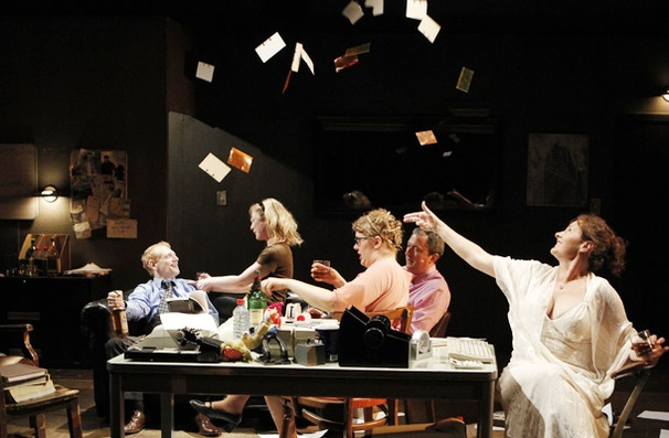 Scott Shepherd, Annie McNamara, Kate Scelsa, Vin Knight and Laurena Allan in GATZ.  Photo credit: Joan Marcus