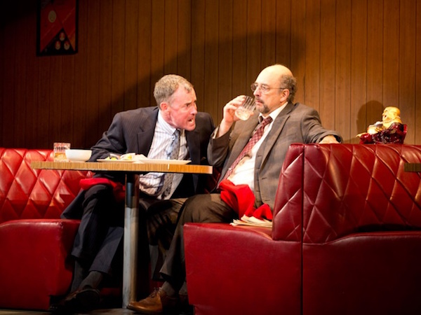 John C. McGinley as Dave Moss and Richard Schiff as George Aaronow in Glengarry Glen Ross