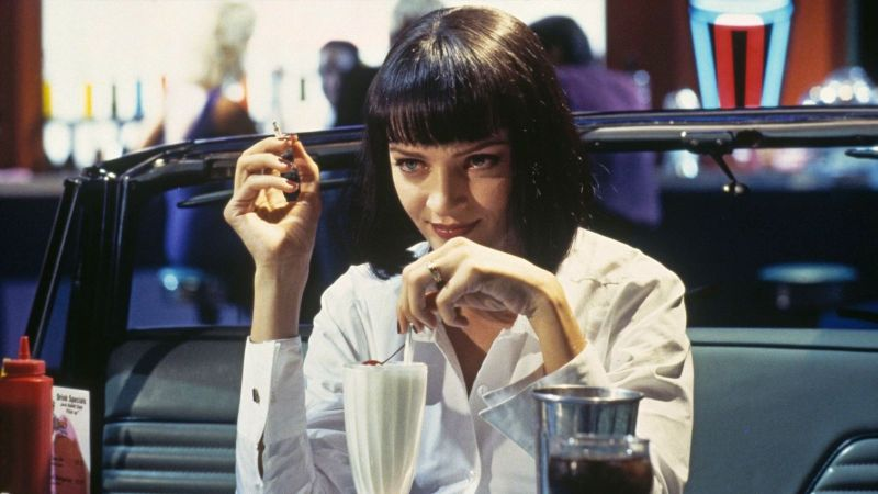 Mia and $5 milkshake in Pulp Fiction